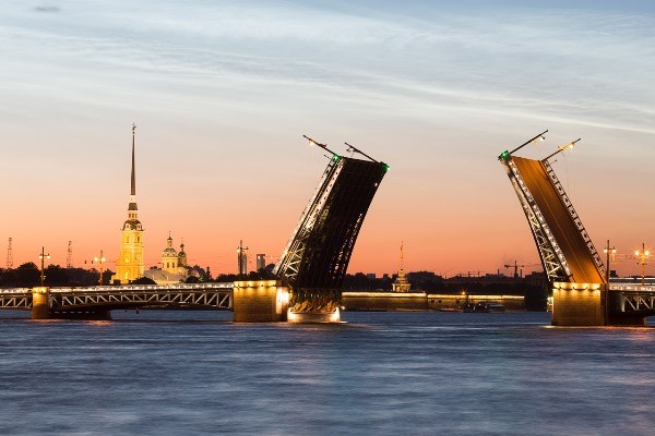 Дворцовый мост Белые ночи